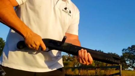 慢镜头下的霰弹枪快速射击,别说还挺有美感!好看!
