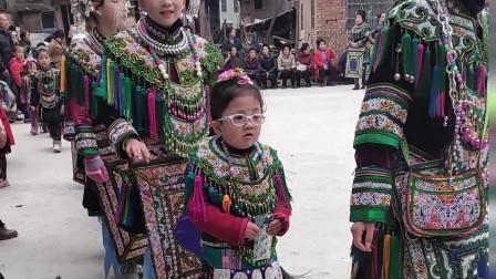 贵州榕江高便村: 侗族同胞男女老少身着节日盛装欢度新年