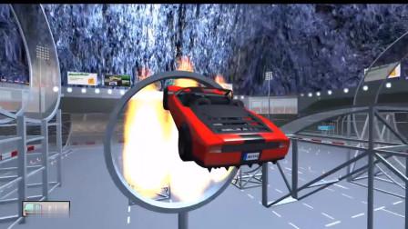 敢跳火坑的汽车,能跳过去的都是大神了!拟真汽车模拟