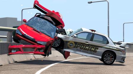 拟真汽车超速驾车模拟,这冲击力还敢超速吗?