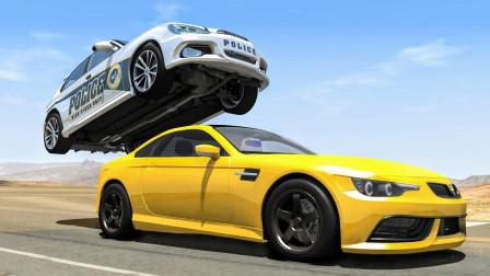 警车与跑车公路冒险追逐,这车技一定是老司机!拟真汽车模拟