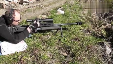Steyr HS反器材狙击步枪,有无消音器的效果太明显了