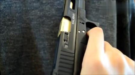 玩具Glock17 SAI版手枪,BB弹供弹射击测试