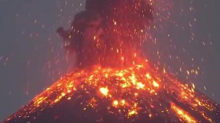 拍摄火山爆发视频,火山爆发瞬间的珍贵画面!