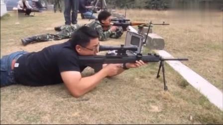 QBU-88式狙击步枪,户外靶场射击测试