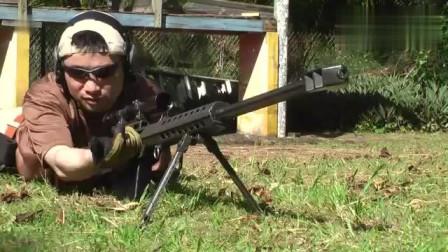 巴雷特这么猛的狙击枪,老外这样做有点大材小用了!
