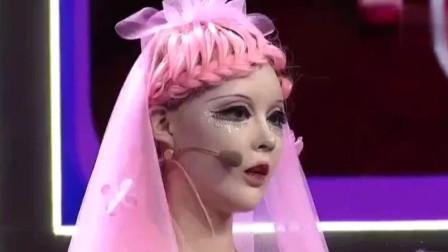 真人芭比走不出芭比的幻想,被评为吐槽脸尖,力证自己没整容!