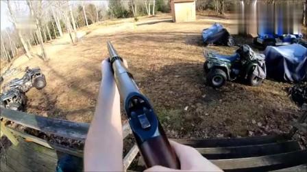 温彻斯特M1897霰弹枪,发射12号或16号霰弹