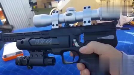 从射弹散布来看,这把德国HW44气动手枪很不错!