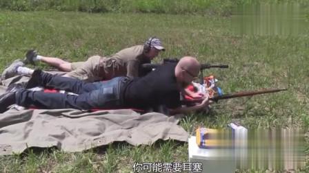 冲击力堪称恐怖的巴雷特M82A1狙击枪,国外老爷子带你近距离感受