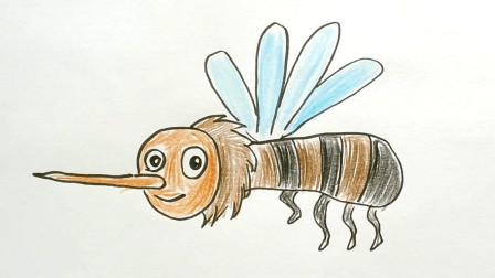 教大家画一只大黄蜂卡通简笔画