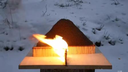 火柴连锁反应多米诺火山爆发