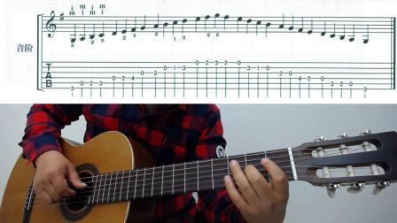 古典吉他教学 卡尔卡西古典吉他教程 G大调 第一课