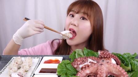 """美食之新鲜章鱼,丰富的蛋白质,妹子""""渴望""""的食物!"""
