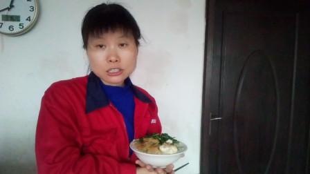 吃播视频 大蒜炒菜头+炒荠菜+红枣桂圆蒸蛋 边吃边聊土鸡蛋