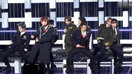 EXO《Tempo》,茶蛋军装直拍,帅的不敢眨眼