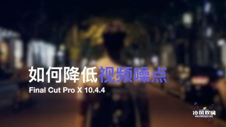 Final Cut Pro X 如何降低视频噪点 [冷风吹锅]