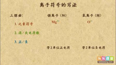 初中化学九年级上册 离子符号的写法与意义