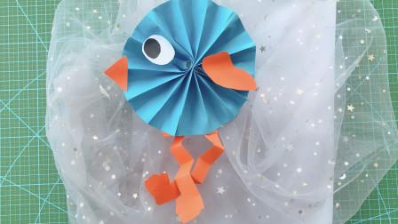 折纸教程:手工折纸可爱的小鸟,方法简单又有创意