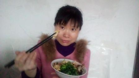 家常吃播视频 炒春小笋+炒荠才+汆汤肉+红烧草鱼块