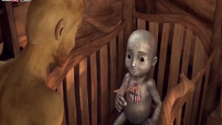 小孩爱吃木头成狂,而他父亲是木头人,你们猜到结局了吗?