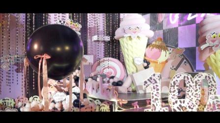 像素格子Studio出品:小豹妹的百天宴