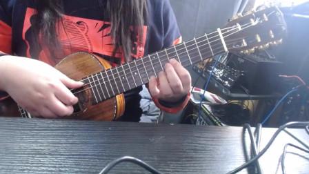吉他里里演奏圣斗士安魂曲
