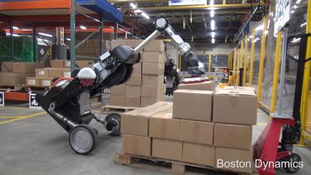 波士顿动力Handle机器人装卸货物