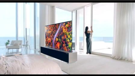 """全新生活方式:LG 发布了一款可以""""卷起来""""的 4K 电视。"""