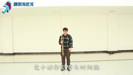 中国武术长棍的基础详细动作教程视频,讲解一下武术棍一些技术动作