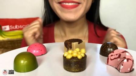 美女吃播:这个黄金巧克力我给满分,您看呢?