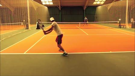 高级网球反手练习,顶级网球训练,效果超级好