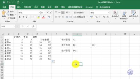 【四方居士】Excel的绝对引用相对引用和混合引用