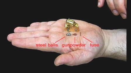 世界最小的大砲!只有不到手掌的大小, 但是威力好大啊!