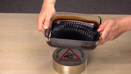 当超强磁铁遇上磁流体,会发生什么有趣的现象