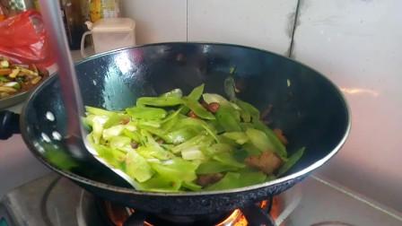 安徽大姐炒的菜 肉炒莴笋的做法视频 听安徽大姐讲做菜经