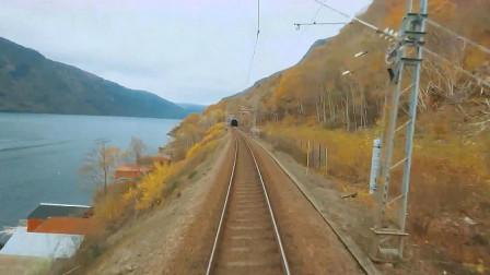 实拍火车驾驶室视角极速启动瞬间,这速度能把人吓出心脏病