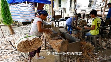实拍越南生产筷子过程,比一次性筷子都干净,中国是最大的客户?