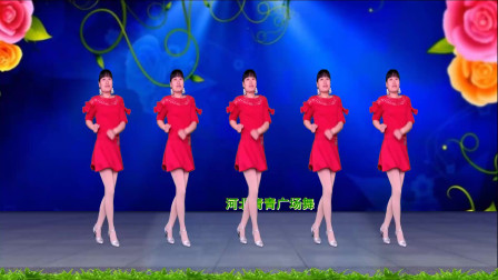 网络热歌广场舞《山河美》32步,大气优美,动感十足