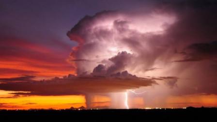 实拍超级单体雷暴天气的形成过程(延时摄影)