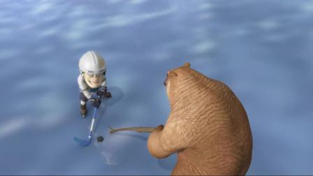 熊出没探险日记2精编版_90 冰湖上的战斗