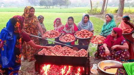 印度村民改善生活,弄来130斤土豆,看看这吃法,我算是服了!
