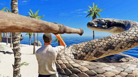 我用巨型长矛击杀大蛇,终于知道了它的威力