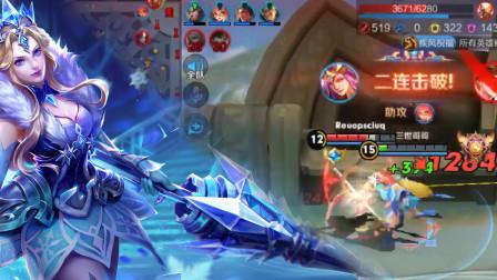 王者荣耀:猴子见到残血雅典娜都只能掉头就跑,原来她全暴击!