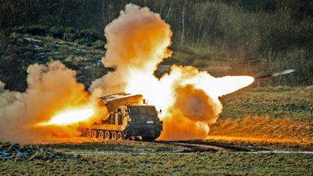 美国最先进的M270火箭炮试射,看完还是中国火箭炮威力更强