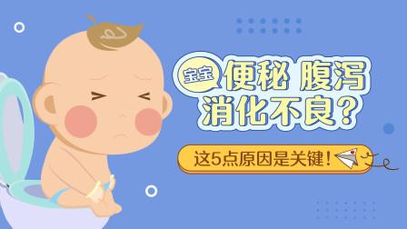 宝宝便秘、腹泻、消化不良?儿科专家提醒:这5点原因是关键!