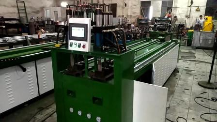 数控冲孔机冲铝合金圆孔和型材冲孔效果操作调试
