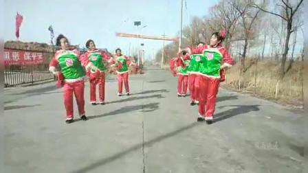 东北松原市前郭县红光农场广场舞队《张灯结彩》