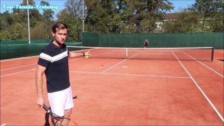 教你网球比赛中如何在网上得分