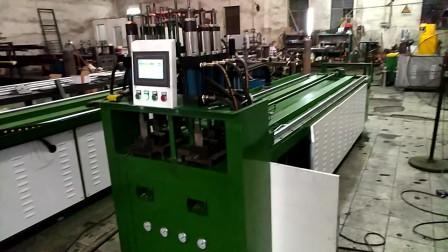 型材数控冲孔机铝材冲孔下料一体机操作展示